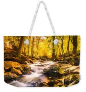 Wild Waterfalls Flowing Through A Forest Weekender Tote Bag