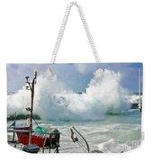 Wild Waves In Cornwall Weekender Tote Bag
