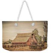 Wild West Barn And Hay Wagon Weekender Tote Bag
