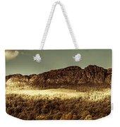 Wild West Mountain Panorama Weekender Tote Bag