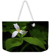 Wild White Trillium Weekender Tote Bag