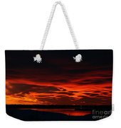 Wild Winter Sunset Weekender Tote Bag