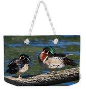 Wild Wood Ducks On A Log Weekender Tote Bag