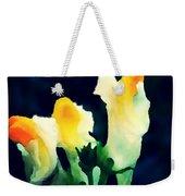Wild Yellow Flowers On Dark Background Weekender Tote Bag
