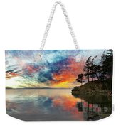 Wildcat Cove In Washington State At Sunset Weekender Tote Bag