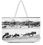 Wildebeest On The Move Weekender Tote Bag