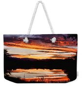 Wildfire Sunset Reflection Image 28 Weekender Tote Bag