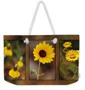 Wildflower 3 Weekender Tote Bag by Jill Reger