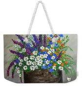 Wildflower Basket Acrylic Painting A61318 Weekender Tote Bag