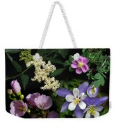Wildflower Collage Weekender Tote Bag