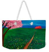 Wildflower Country Road Weekender Tote Bag
