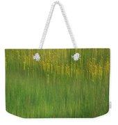 Wildflower Fields Abstract Weekender Tote Bag
