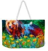 Wildflower Grizz II Weekender Tote Bag