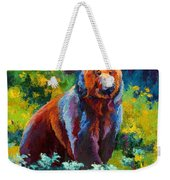 Wildflower Grizz Weekender Tote Bag