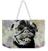 Wildflower Pug Weekender Tote Bag