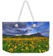 Wildflower Storm Weekender Tote Bag