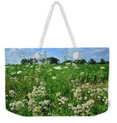 Wildflowers Along Country Road In Mchenry County Weekender Tote Bag