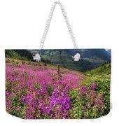 Wildflowers And A Glacier Weekender Tote Bag