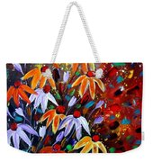 Wildflowers At Sunset Weekender Tote Bag
