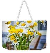 Wildflowers Bouquet At Cottage Weekender Tote Bag by Elena Elisseeva