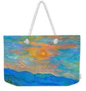 Wildflowers By A Blue Ridge Sunset Weekender Tote Bag