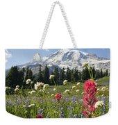 Wildflowers In Mount Rainier National Weekender Tote Bag