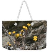 Wildflowers In Rocks Weekender Tote Bag