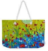 Wildflowers Meadow Sunrise Weekender Tote Bag