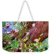 Wildflowers On A Cypress Knee Weekender Tote Bag