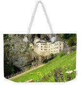Wildflowers On Hillside At Predjama Castle 1570 Renaissance Fort Weekender Tote Bag