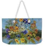 Wildflowers On The Lake Weekender Tote Bag