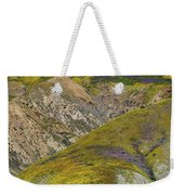 Wildflowers Up The Hills Of Temblor Range At Carrizo Plain National Monument Weekender Tote Bag
