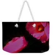 Wildly Pink On Black Flower Weekender Tote Bag