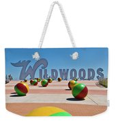 Wildwood's Sign, Wildwood, Nj Boardwalk . Copyright Aladdin Color Inc. Weekender Tote Bag