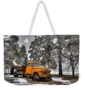 Will Plow For Snow Weekender Tote Bag