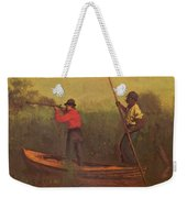 Will Schuster And A Black 1876 Weekender Tote Bag
