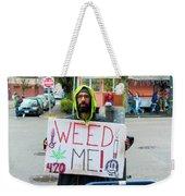 Will Work 4 Weed Weekender Tote Bag