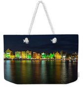 Willemstad And Queen Emma Bridge At Night Weekender Tote Bag