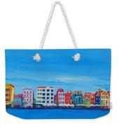 Willemstad Curacao Waterfront In Blue Weekender Tote Bag