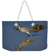 Willet Searching For Food In An Oyster Bed Weekender Tote Bag
