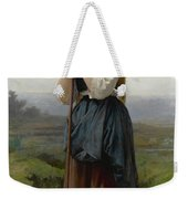 William Bouguereau 1825-1905 French Petite Bergere Weekender Tote Bag