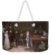 William Frederick Yeames - And When Did You Last See Your Father 1878 Weekender Tote Bag
