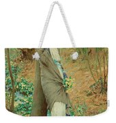 William Henry Margetson, Woman In A Spring Landscape. Weekender Tote Bag