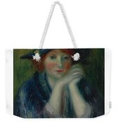 William J. Glackens 1870-1938 1870 - 1938 Portrait Study Of An Artist's Model Weekender Tote Bag