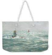 William Lionel Wyllie, Submarines In The Channel Weekender Tote Bag