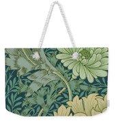 William Morris Wallpaper Sample With Chrysanthemum Weekender Tote Bag