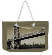 Old New York Photo - Williamsburg Bridge Weekender Tote Bag
