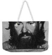 Willie Nelson Mug Shot Vertical Black And White Weekender Tote Bag