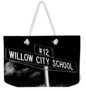 Willow City School Sign Weekender Tote Bag