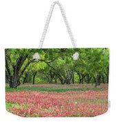 Willows,indian Paintbrush Make For A Colorful Palette. Weekender Tote Bag